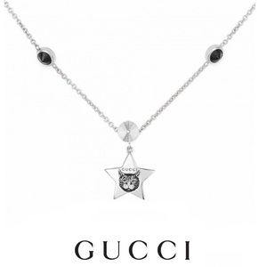 New Authentic Gucci Blind For Love Feline Necklace